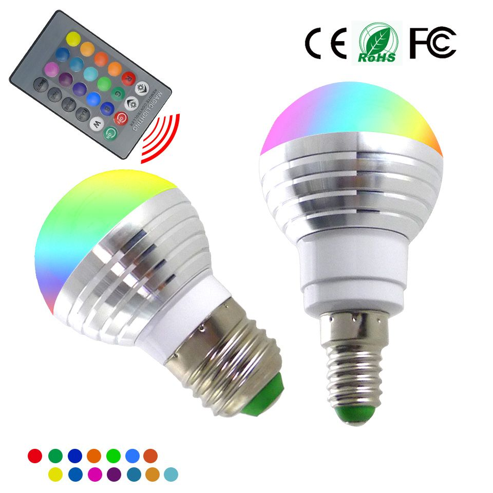 Led Bulbs Rgb Led Bulb E27 E14 16 Color Changing Light Candle Bulb Rgb Led Spotlight Lamp Ac85 265v E14 E27 Rgb Led Bulb 3w 16 Color Changeable Lamp Led Spotlight Ir
