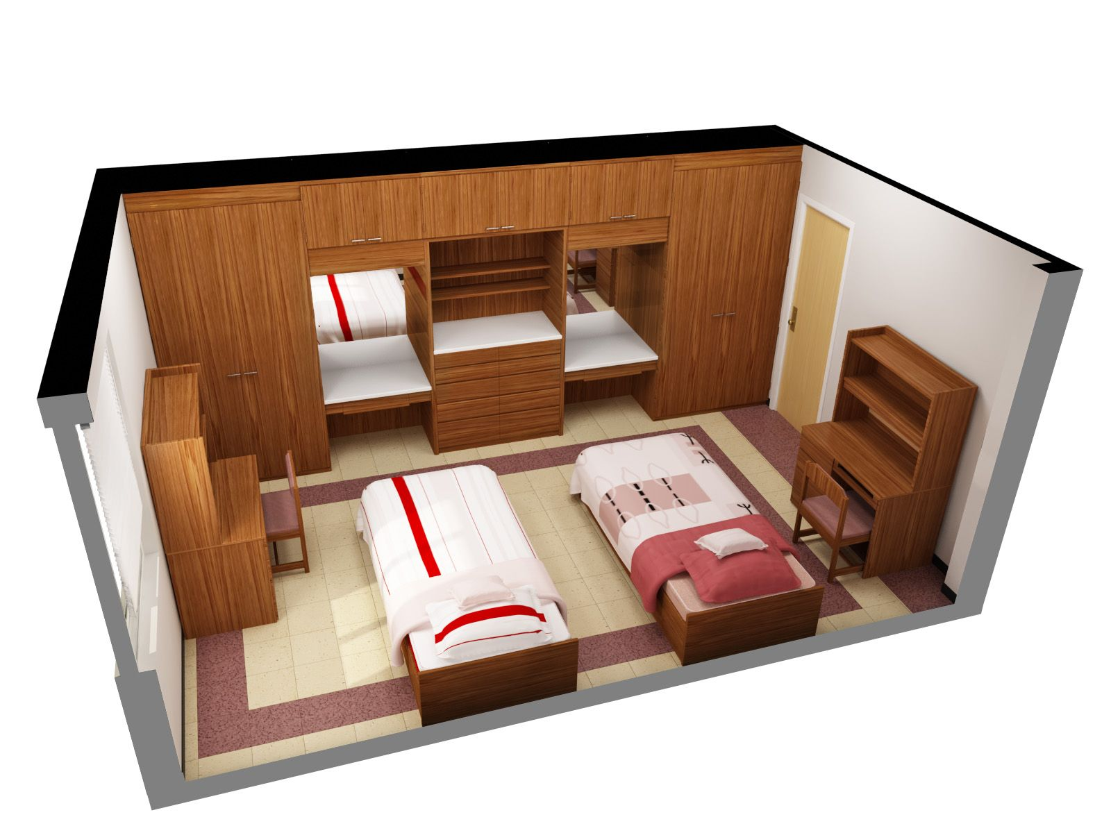 3d Floor Plan Software Free With Nice Double Single Bed Design For