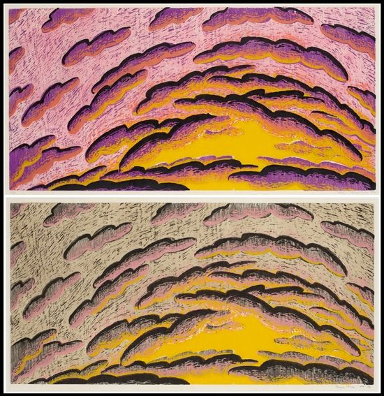 Dawn And Dusk [2 Works] By Louisa Chase On Artnet Auctions