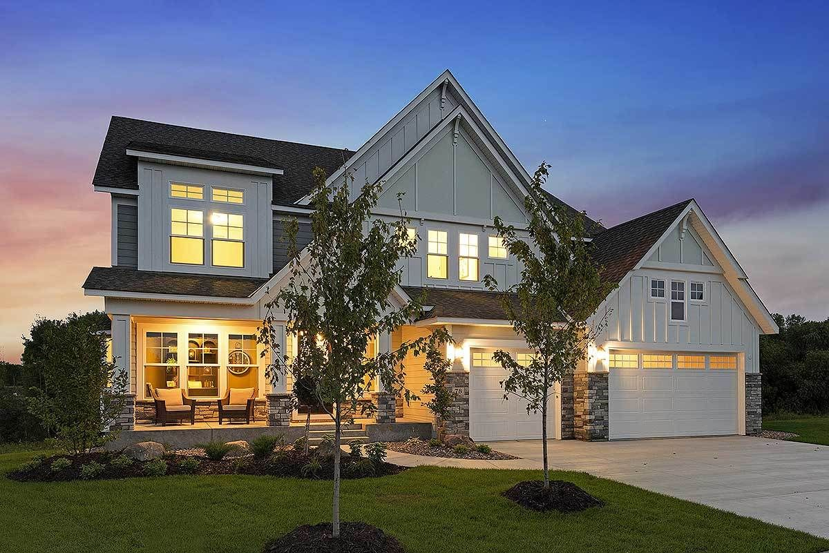 Exclusive modern craftsman farmhouse with welcoming front porch 73381hs 06