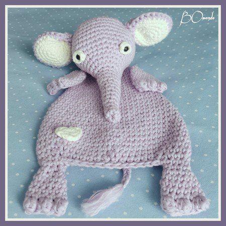 Schmusetuch Elefant Ottilia, Häkelanleitung, für Babys und ...
