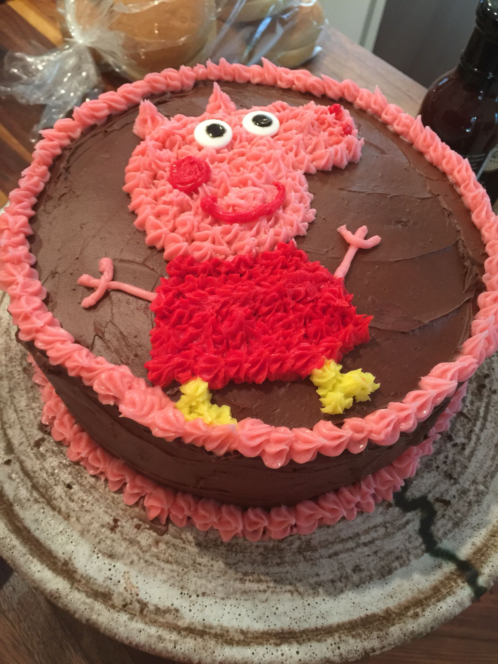 Homemade Peppa Pig Cake Pig Birthday Cakes Peppa Pig Birthday