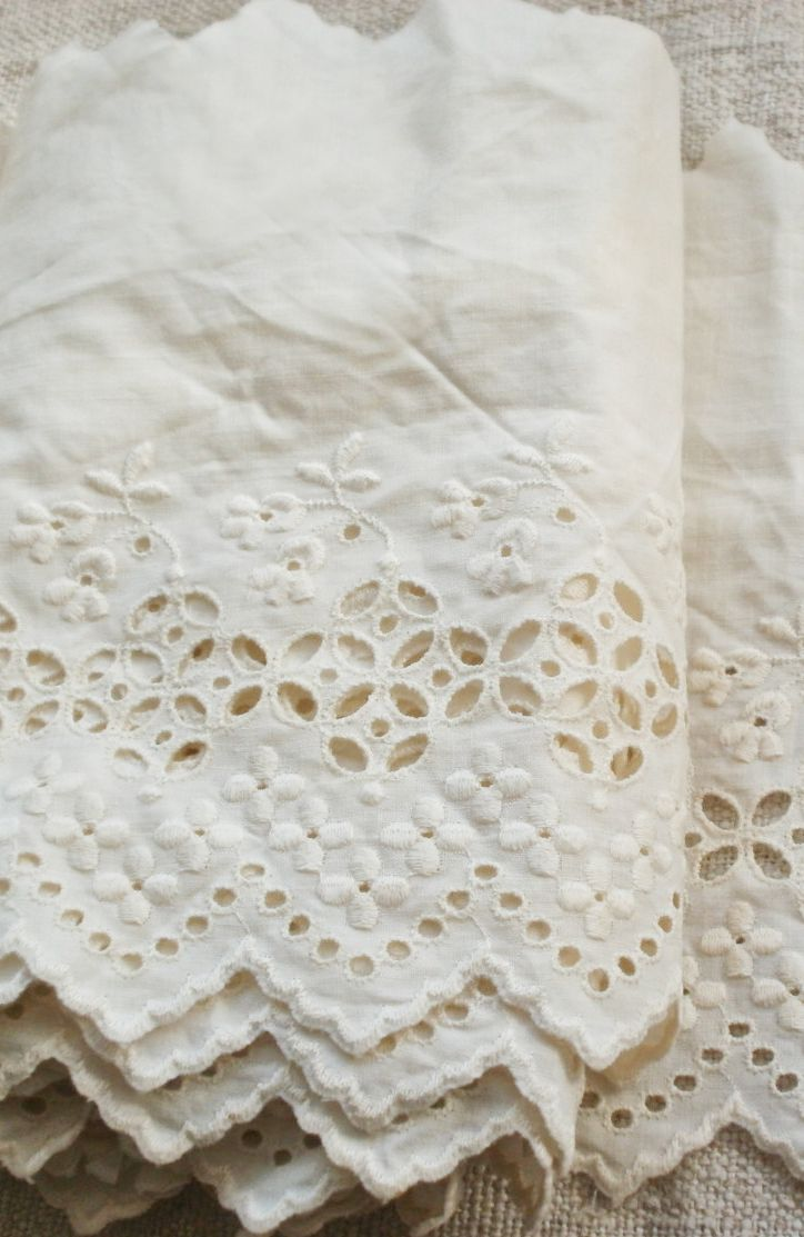 Vintage Broderie Anglaise Lace