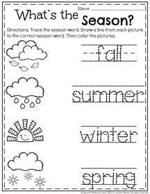 May Preschool Worksheets | Preschool seasons, Seasons worksheets ...