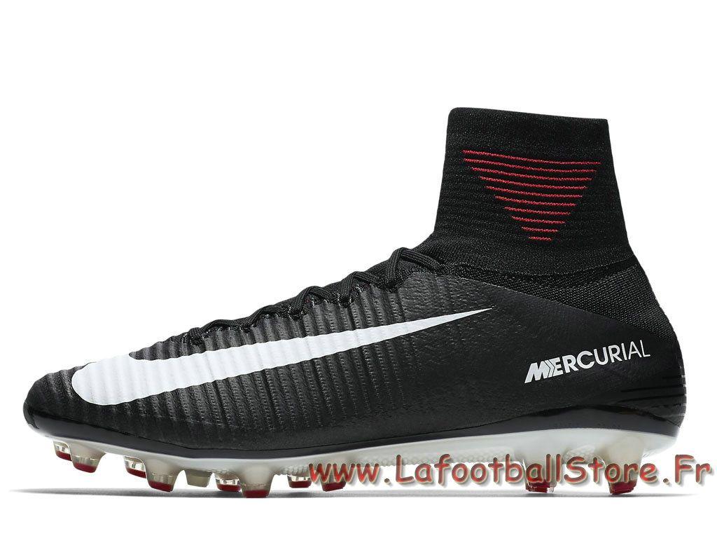 buy online ba2e8 994ab Nike Mercurial Superfly V AG-PRO Noires 831955 002 Chaussure de football à  crampons pour terrain