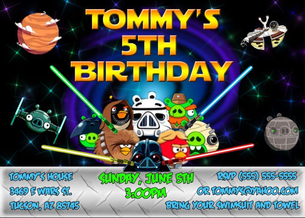 Angry Bird Star Wars Birthday Invitation | Pinterest | Star wars ...
