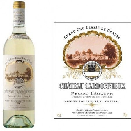 Chateau Carbonnieaux, Graves, Bordeaux France. Primært på Savignon Blanc. Grand cru classé.  ( smagte dens 2. vin )