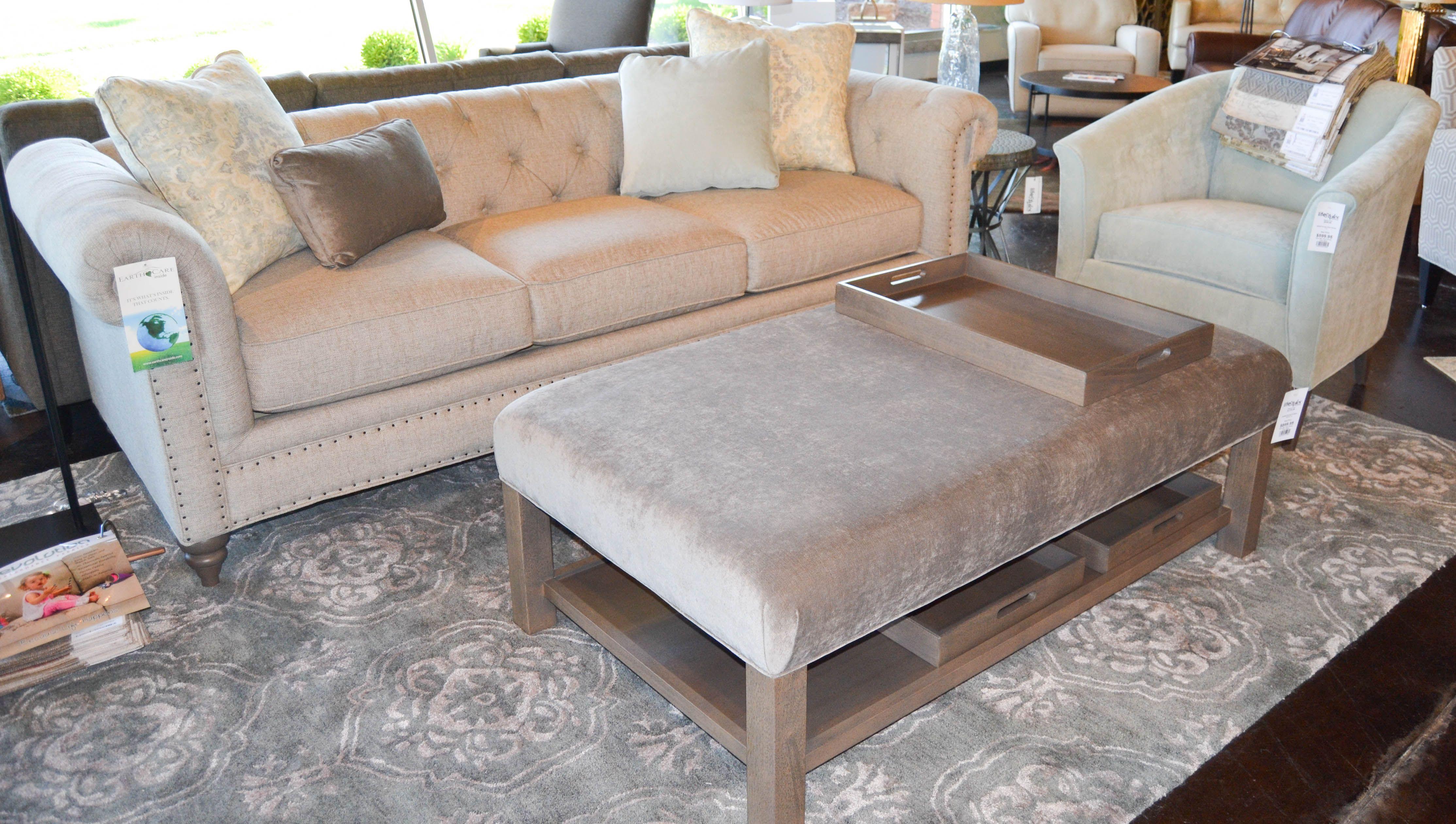 Ottoman With Shelf And Chesterfield Sofa Www Lifestylescomo Com