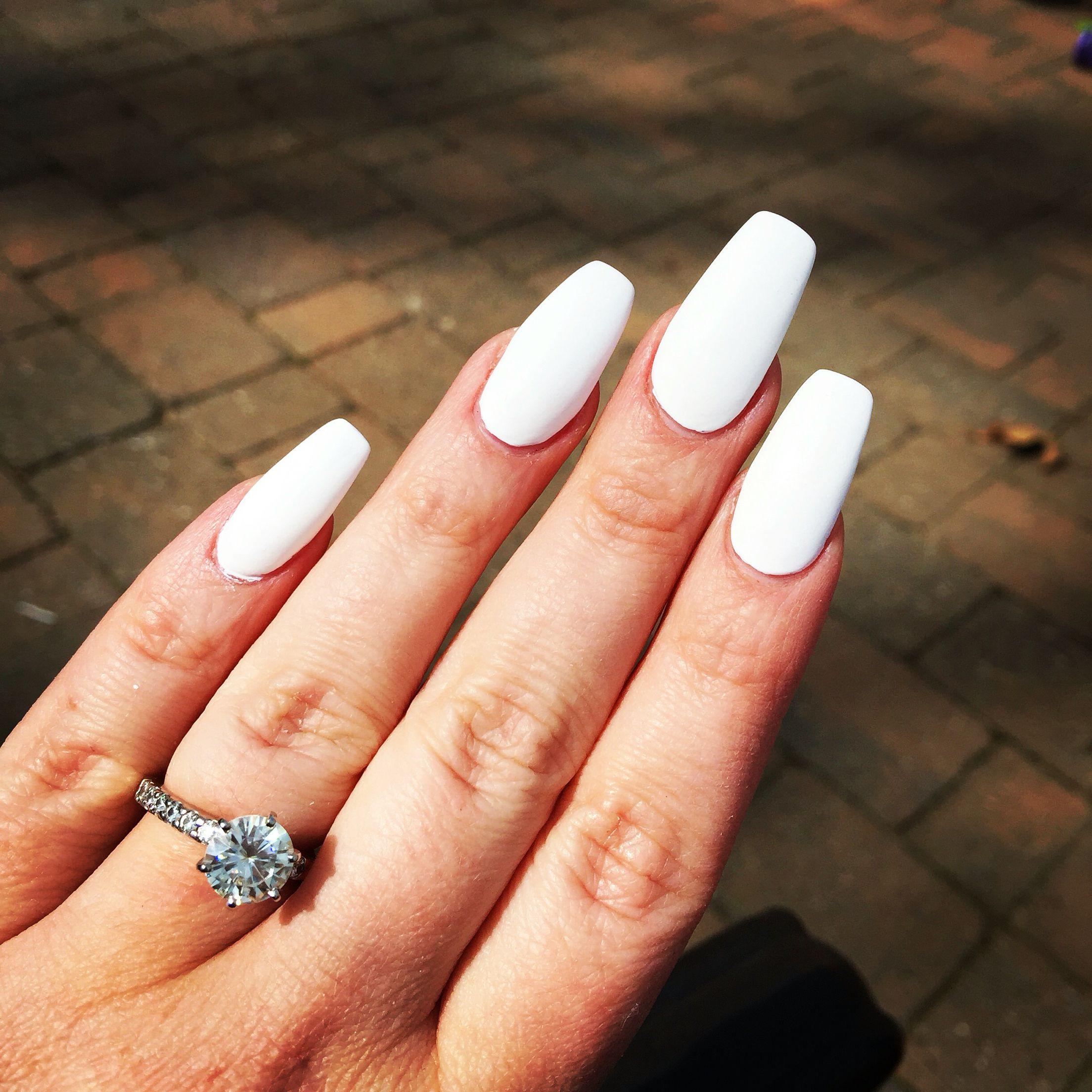 White matte ballerinas | Nails | Pinterest | Ballerina