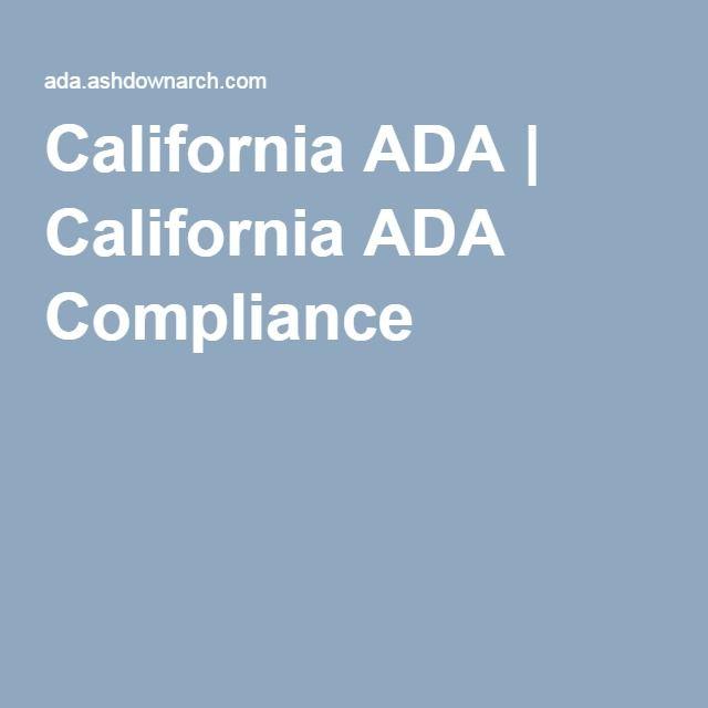 California ADA | California ADA Compliance