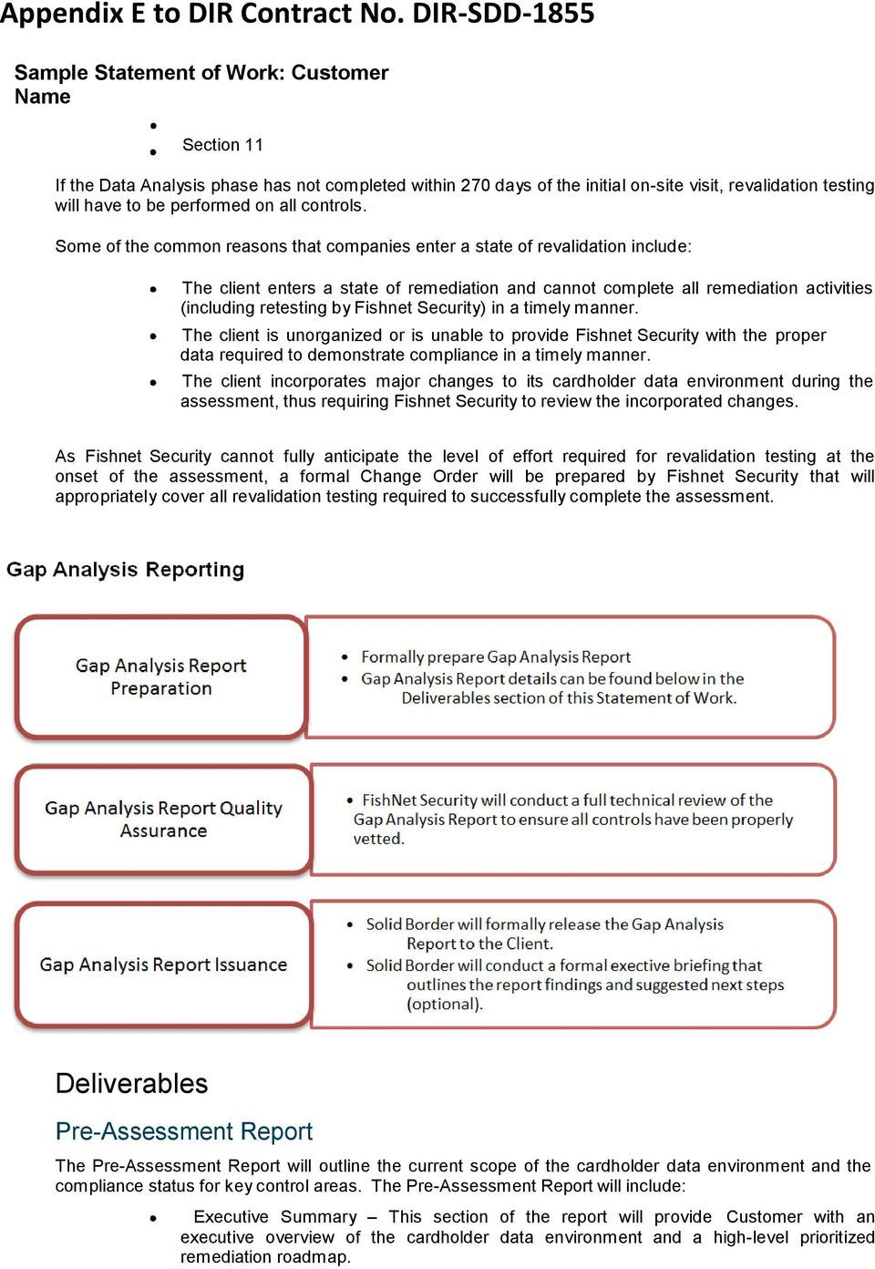 Sample Statement Of Work Pdf Free Download Intended For Pci Dss