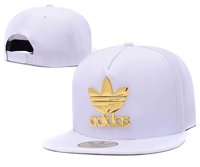 Mens Adidas The Original Iron Gold Metal Logo A-Frame 2016 Best Selling USA  Snapback Cap - White - Click Image to Close 23f8451fd4b