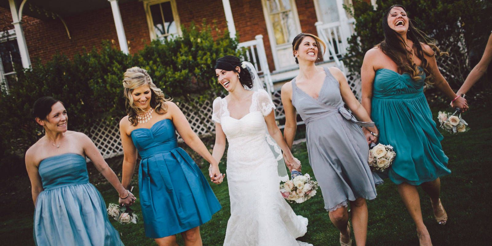 18 adorable photos that prove the best bridesmaids dresses are 15 adorable photos that prove the best bridesmaids dresses are mismatched cosmopolitan ombrellifo Image collections