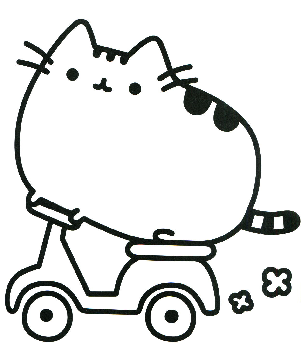 Pusheen Coloring Pages Cat On A Motorbike Cat Coloring Book Cat Coloring Page Pusheen Coloring Pages