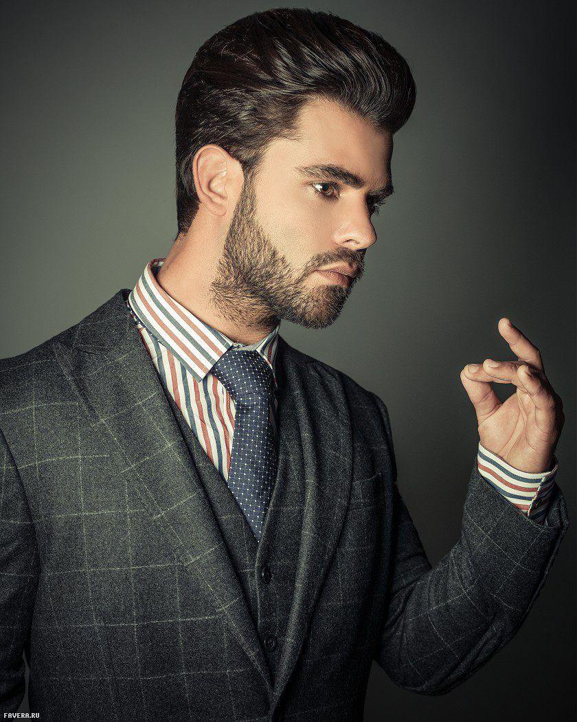 Mens haircuts with beards sassoon  medium black male straight mens haircut beard hair styles