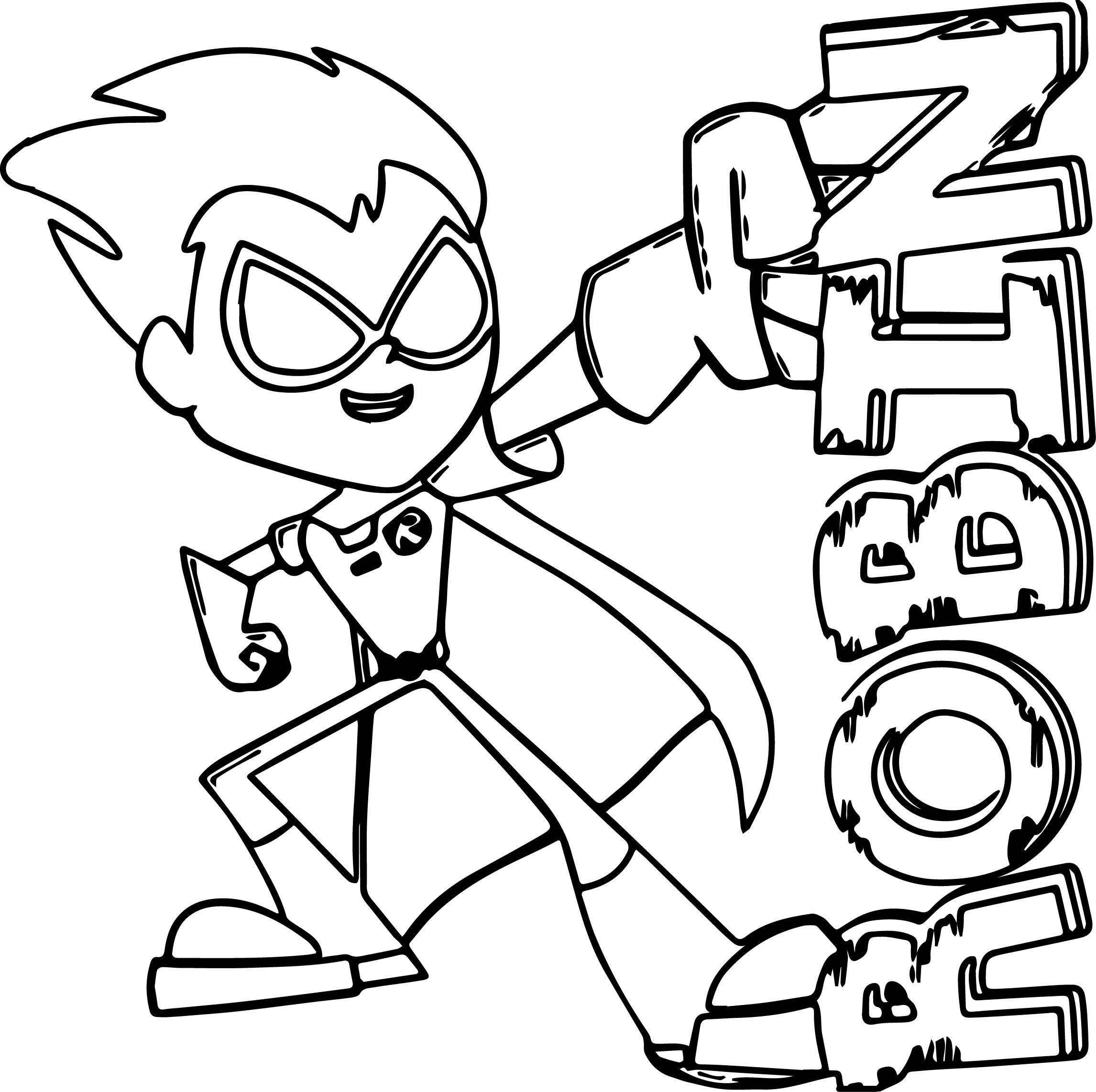 Teen Titans Go Robin Coloring Pages wecoloringpage Pinterest