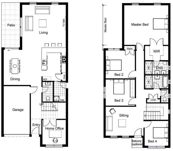 NARROW BLOCK HOME DESIGNS Construction Styles World ~ Great pin ...