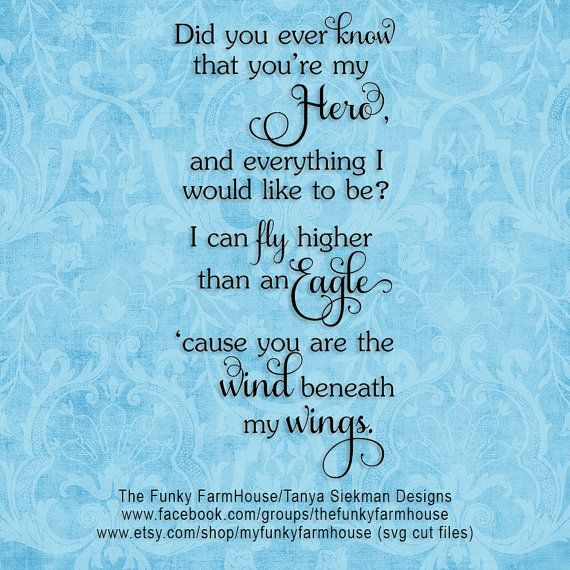 Svg Png Wind Beneath My Wings By Myfunkyfarmhouse On Etsy With