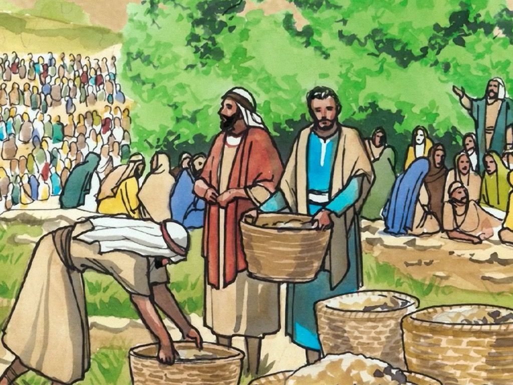 Free visuals: Jesus Feeds the 4,000 | Bible: Jesus and His Miracles ...
