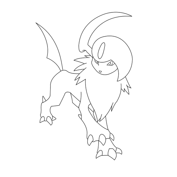 Free Absol Lineart By Behindclosedeyes00 On Deviantart Pokemon Coloring Pages Pokemon Coloring Pokemon Drawings