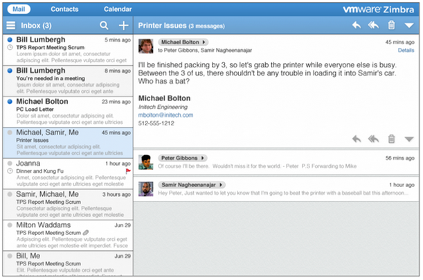 New Webmail Look Of Zimbra 9 Messages Everyone Else Cloud