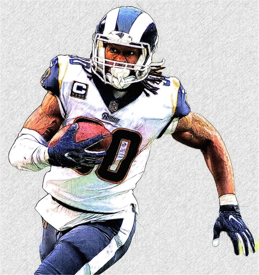 Los Angeles Rams Rb Todd Gurley Ii Football Illustration Todd Gurley Nfl Football