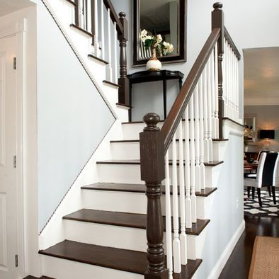 Staircase   Traditional   Staircase   Boston   Mary Prince   I Like The  Mirror And Console On The Landing.