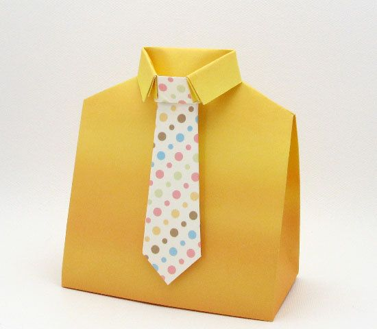 Box Template  Shirt And Tie FatherS Day  D Paper Crafts