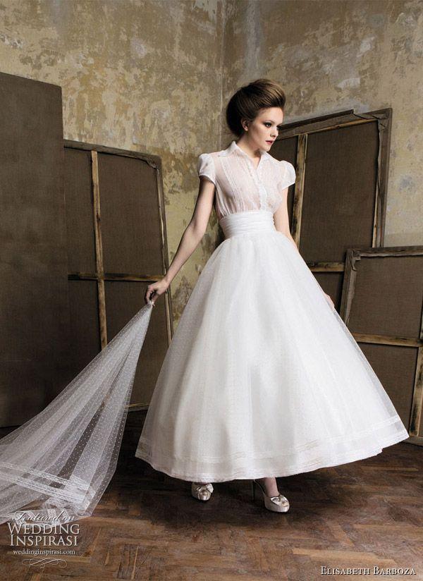 Elizabeth Barboza Pronuptia Wedding Gowns 2011   Tea length wedding ...