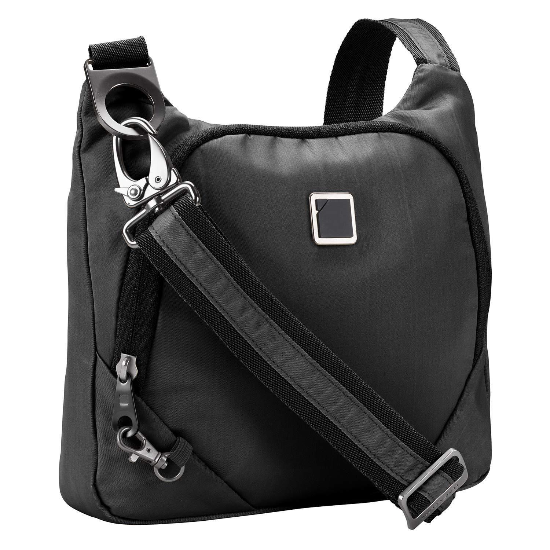 Lewis N. Clark Anti-theft Crossbody Purse + Sling Bag for Women, Men, Travel or Work with RFID Blocking Technology, Slash Resistant Material, Locking