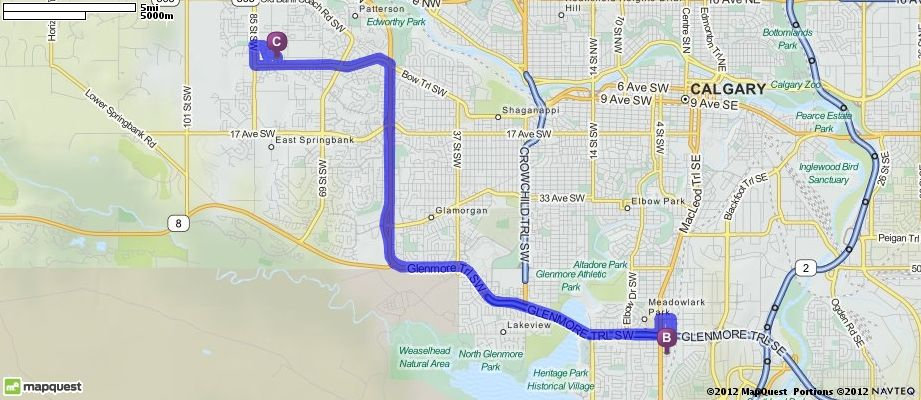 Driving Directions from 513 Wentworth Place SW, Calgary, Canada to 513 Wentworth Place SW, Calgary, Canada | MapQuest