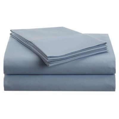 1500 Series Brushed Microfiber Solid Sheet Set by Superior Light Blue - MF1500QNSH SLLB