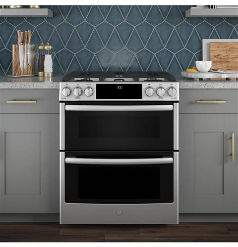 Ge Profile Series 30 Slide In Front Control Gas Double Oven