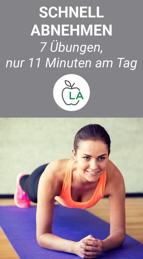 Schnell abnehmen durch Krafttraining: 7 Übungen, 11 Minuten am Tag #fitnessexercisesathome