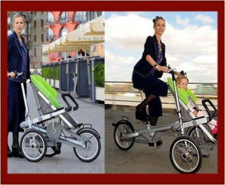 Taga Bike Stroller: El cochecito de bebé que se hace bici en