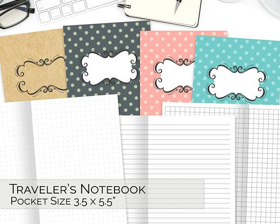 POCKET TN Inserts, Travelers Notebook Printable, Field Notes, Grid - printable graph papers