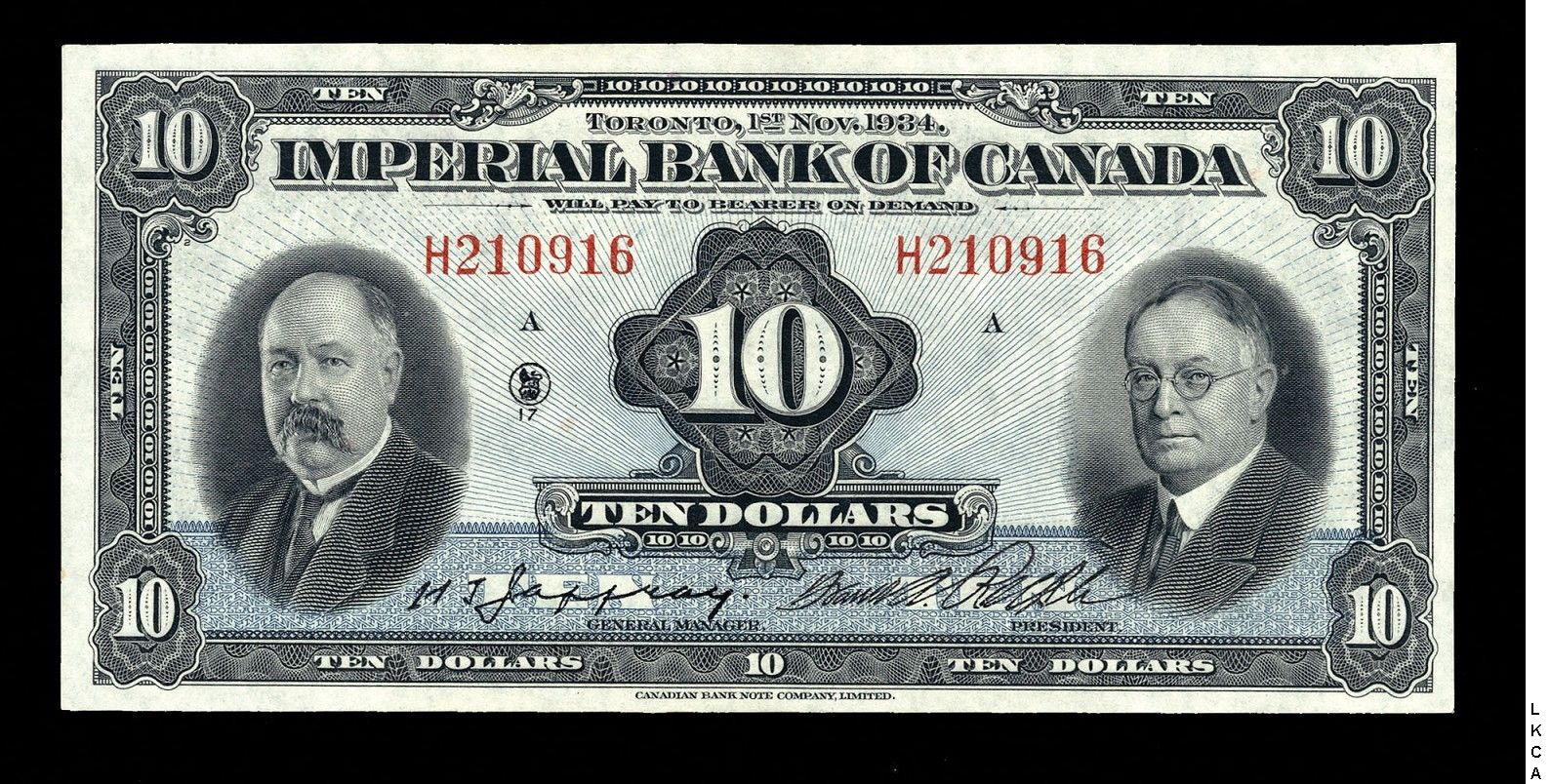 Imperial Bank Of Canada 10 00 1 11 1934 Pmg Gem Unc 65 Bank Notes Old Money