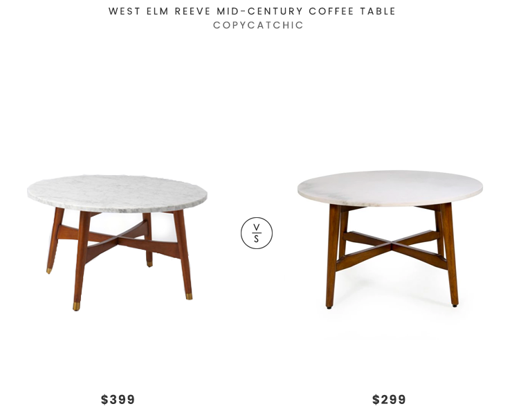 West Elm Reeve Mid Century Coffee Table 399 Vs Belham