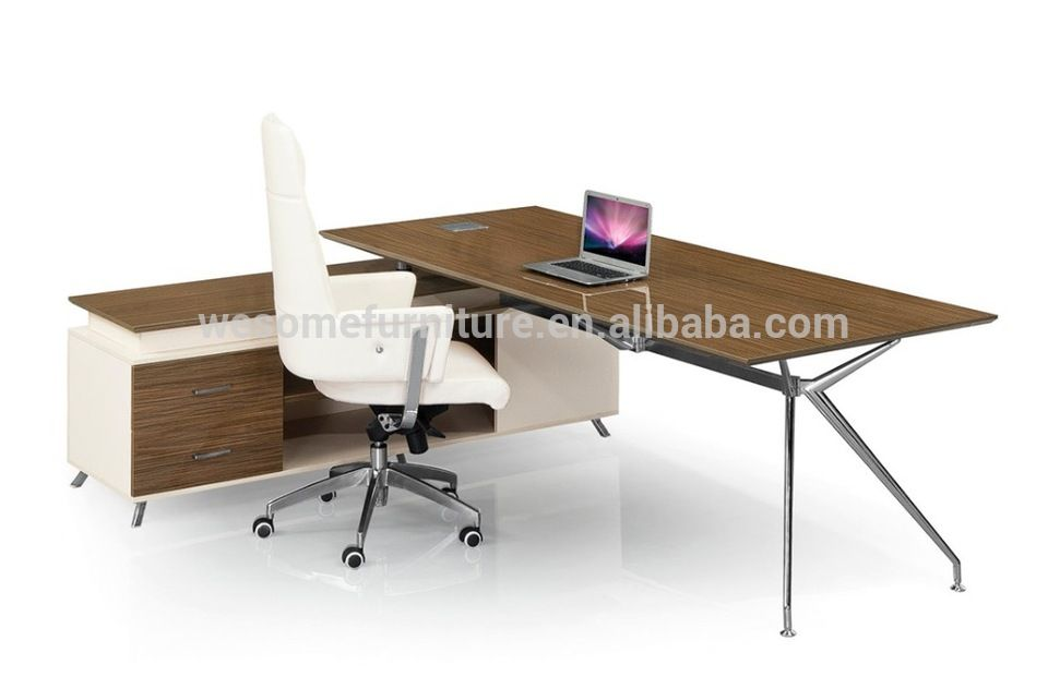 Foshan Shunde Furniture Market Office Desk Executive Table With Side Table