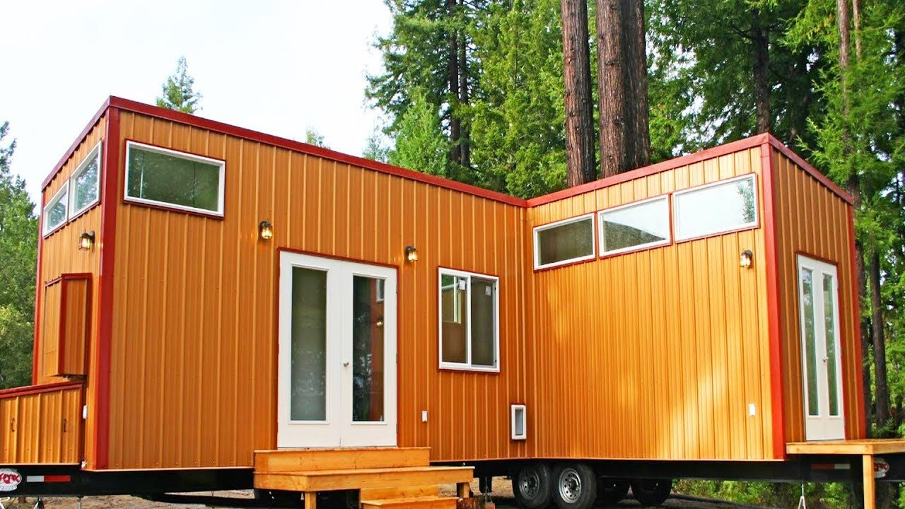 Stunning Two Tiny Houses On Wheels Permanently Joined
