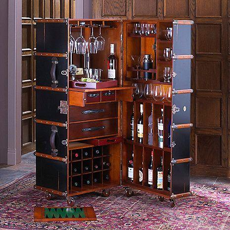 Wine Accessories Wine Storage And Wine Gifts Steamer Trunk Bar
