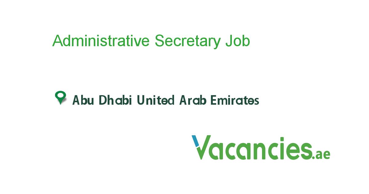 Administrative Secretary Executive Jobs Job Dubai