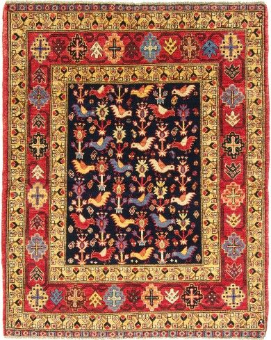several afghan rug project patterns feature traditional bird