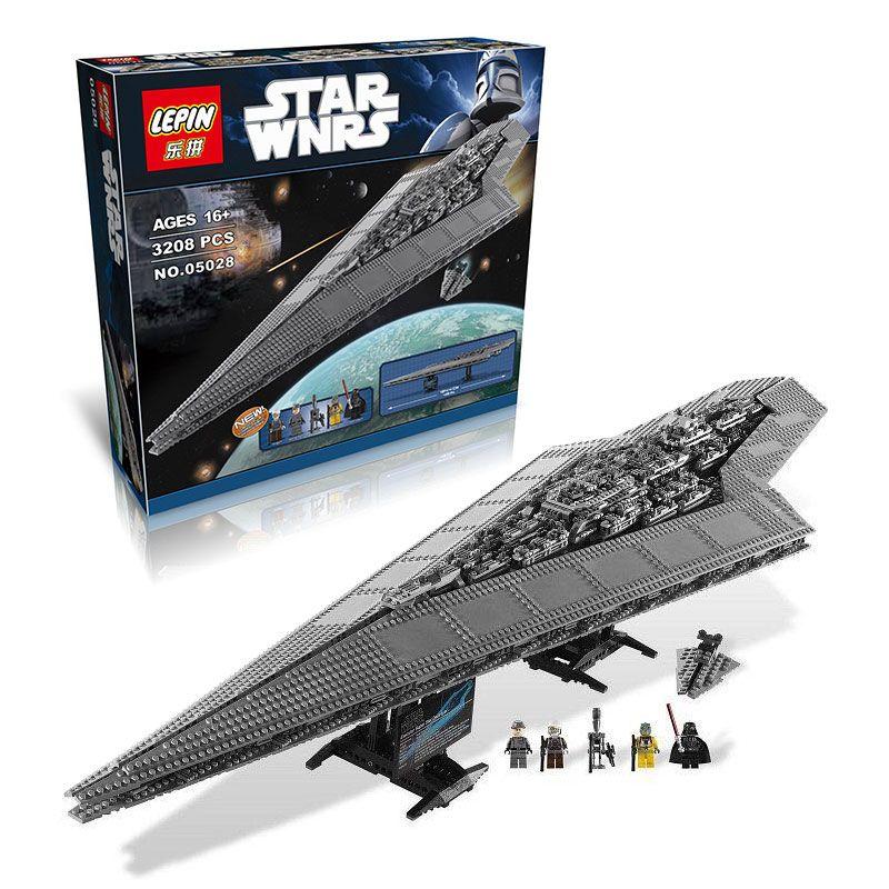 3208 개 LEPIN 05028 스타 워즈 빌딩 블록 임페리얼 스타 디스트로이어 모델 액션 벽돌 장난감 호환 75055