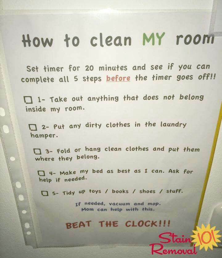 Bedroom Cleaning Checklist: Help Kids Know Expectations For This ...