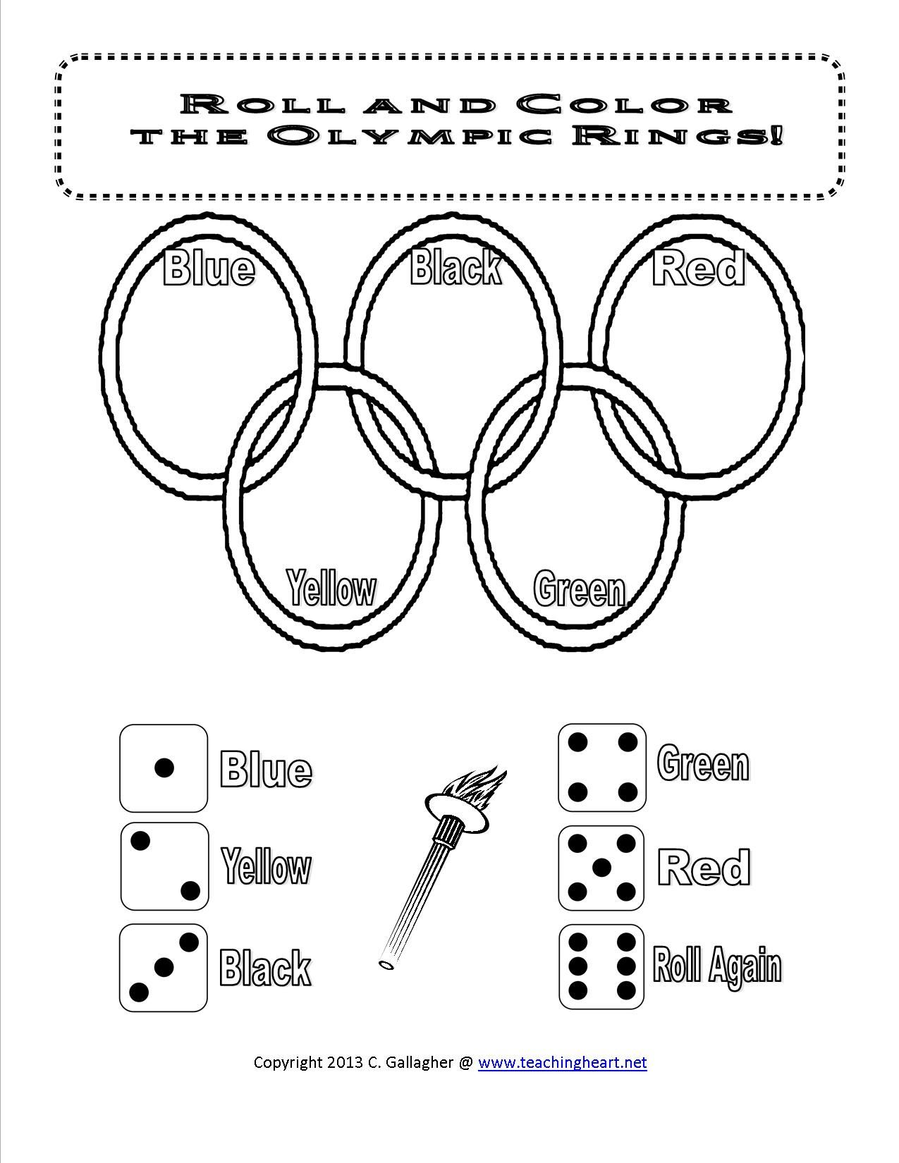 Olympics Dice Game And More Free Teaching Heart Blog Olympic Themed Activities Olympics Activities Olympic Lessons [ 1650 x 1275 Pixel ]