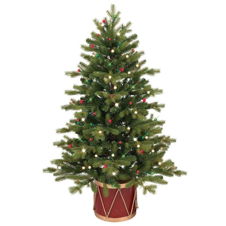 E7 48 In Norway Spruce Christmas Tree In Decorative Drum