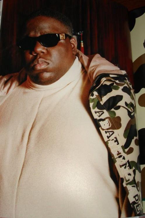 BIGGIE. WEARING BAPE   Bad boy records, Biggie smalls, Notorious big
