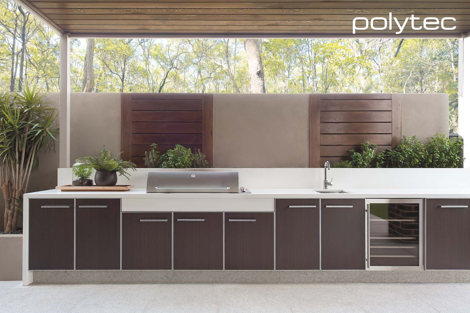 Outdoor Kitchen Cabinets Brisbane Polytec Doors In Aluminium 5mm 55mm Satin Alumunium Frame With