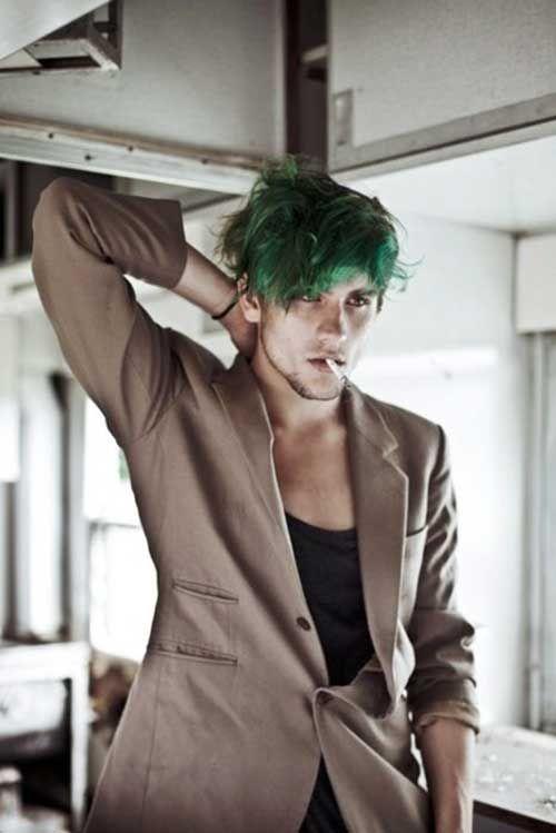 Guy With Green Hair Dark Green Hair Green Hair Men Green Hair